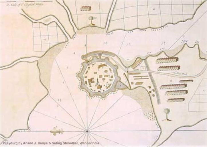 British Map of Gheria from 'Vijaydurg' by Anand J. Bariya & Suhag Shirodkar