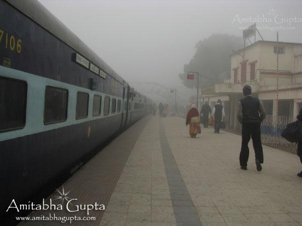 Foggy Morning at New Jalpaiguri Station
