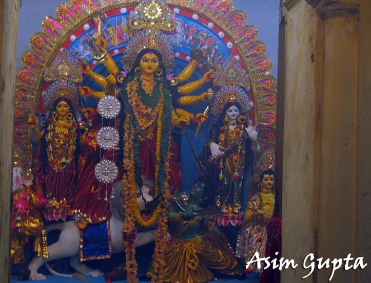 Adhar Lal Sen Choto Taraf Durga Puja at 97A Beniatola Street