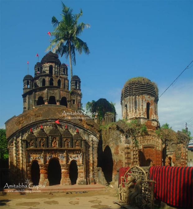 Front View of Durga Temple of Balidewanganj. On the left of this temple stands the ruined Mangalchandi Temple.