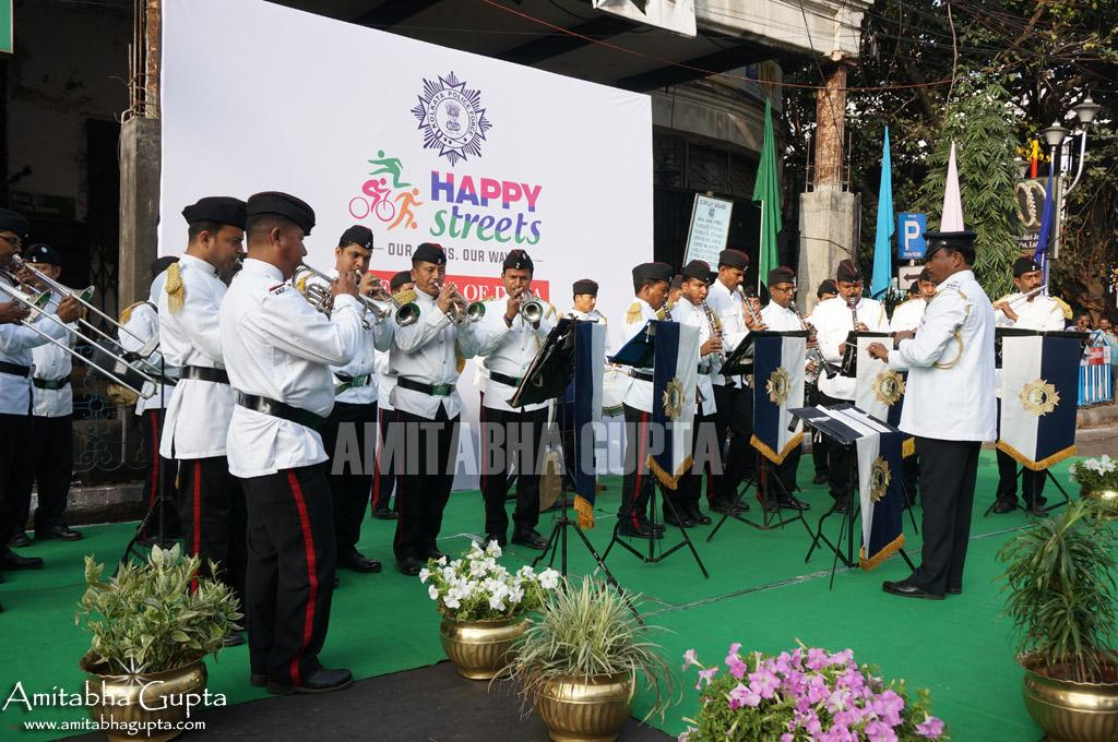 Military Bands playing at Happy Streets Events