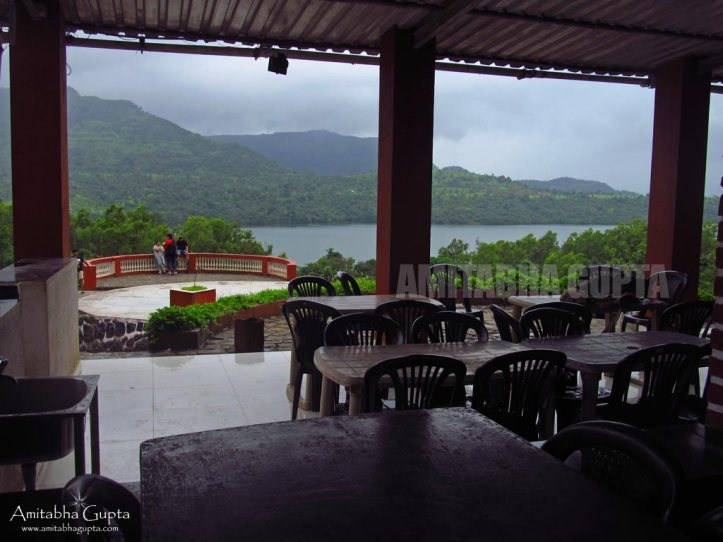 Chairs at Paradise Cafe overlooking the Mulshi lake