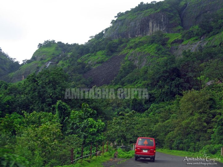 Driving through lush greenary and small hillocks
